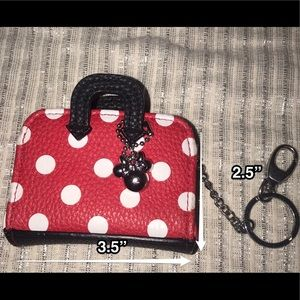 Minnie Mouse red and white polka dot coin purse